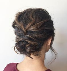 Loose braided bun to try