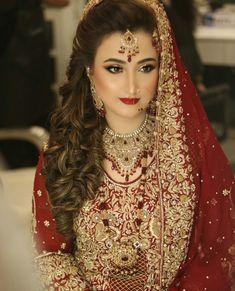 Pakistani Bridal Couture, Pakistani Bridal Makeup, Pakistani Bridal Dresses, Bridal Makeup Looks, Bridal Looks, Bridal Style, Indiana, Asian Bridal Wear, Pakistan Wedding
