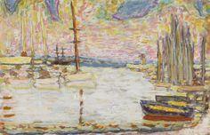 Pierre Bonnard (1867-1947) - PORT DE PÊCHE (1942) - (. 12 ¾ par 19 5/8 po) gouache et crayon sur papier, 32,5 par 49,9 cm
