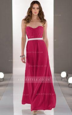 Chiffon Floor-length Natural Strapless Zipper Bridesmaid Dresses Aisle Style 466e3c64ae85