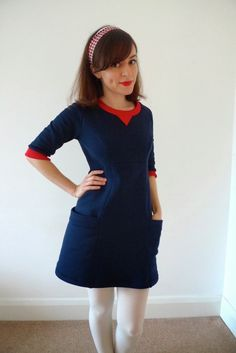 Lola sweater dress (Victory Patterns) :: Tilly and the Buttons