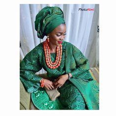 "@photonimi on Instagram: ""@jadeodejayi by herself . She looks so gorgeous . MUA @banksbmpro . Asooke and beads by @bimmms24 . Event planned by @oluwanifenike . #photonimi @bellanaijaweddings @weddingdigestnaija @nigerianweddings @bellabrideafrica #aisleperfect @fashion_and_weddinginspiration @nigerianbridalsteps @yorubaweddings @welovenigerianweddings #myweddingnigeria #welovenigerianweddings #ourwedding_ng @groominspiration @giovannaweddings @weddingsonpoint"""