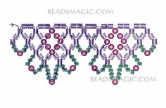 Free pattern for necklace Flame - 2------------------------U need: 2 cut seed beads seed beads 11/0 round beads 2-3 mm