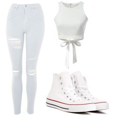 Untitled #46 by admira903 on Polyvore featuring Topshop and Converse