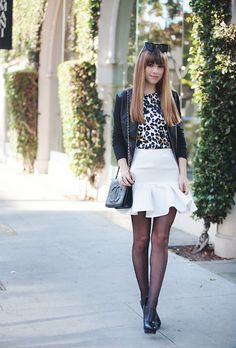 Jenny, LA Blogger from Margo and Me, looks fantastic in her Kardashian Kollection faux leather jacket!