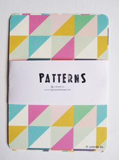 Cards - Geometric and colors - print. via Etsy.