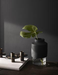 """Menu -  Willmann Vase in black Concrete by Hanne Willmann Image: Yellowsstudio  """"Modernism Reimagnied"""""""