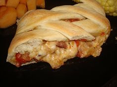 Swiss Chicken and Bacon Bread Braid