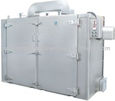 The hot air oven Tray Dryer for drying chemical powders and other food products.