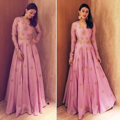 looking lovely in & for K S Ravi Kumars daughters wedding Indian Gowns, Indian Attire, Pakistani Dresses, Indian Wear, Indian Outfits, Indian Style, Indian Long Dress, Anarkali Dress, Bridal Anarkali Suits