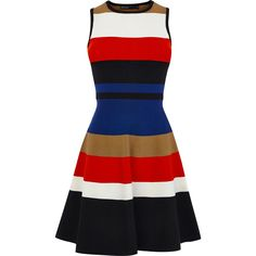 Karen Millen Striped Bandage Dress as seen on Paris Hilton