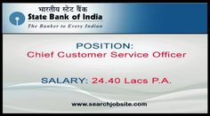 SBI Recruitment Chief Customer Service Officer Apply Now