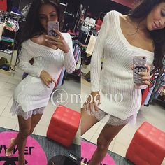 Winter Women Knitting Dress 2017 Long Sleeve Sexy Short Pencil Knitted Dress Slim Bodycon Party Vestidos Lace Sweater Dresses