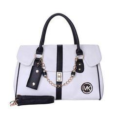 4fa92f3efe2b Michael Kors Fashion Logo Chain Large White Satchels Outlet Fashion Styles