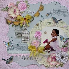 Kaisercraft Design Team 2014 Entry Kaisercraft products: papers and collectables from True Romance collection and stamps.