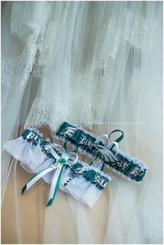 Scotland Run Golf Club Wedding, Bokeh Love Photography, Williamstown, NJ, garter, details, Philadelphia eagles