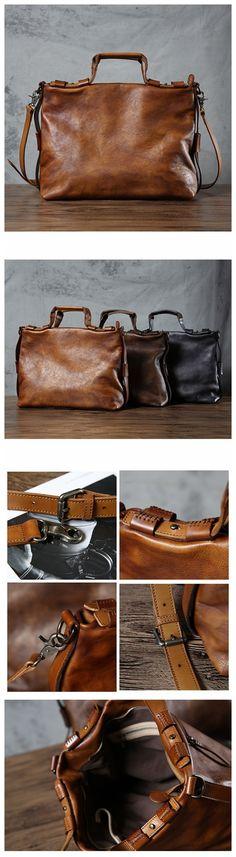 Top Grain Leather Briefcase, Men's Business Bag, Laptop Messenger Bag GLT002 Laptop Messenger Bags, Laptop Bag, Vintage Leather, Leather Men, Popular Bags, Leather Briefcase, Grains, Mens Fashion, Men's Style