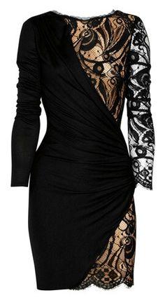 Peekaboo lace dress