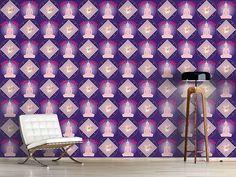 Design #Tapete Bangkok Lila Bangkok, Oriental, Curtains, Design, Home Decor, Lilac, Self Adhesive Wallpaper, Wall Papers, Nice Asses