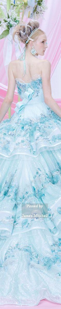 ステラ・デ・リベロ Sky blue floral print for Stella de Libero *Porte Bonheur