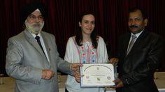 Dr. Heba Omar Khanfar receiving certificate of Fellowship in minimal access Surgery at World Laparoscopy Hospital. For more detail please log on to www.laparoscopyhospital.com