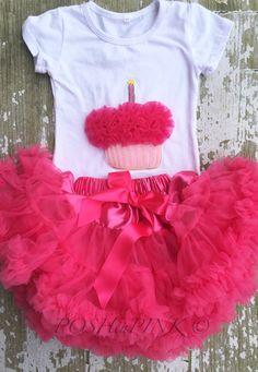A personal favorite from my Etsy shop https://www.etsy.com/listing/235416418/hot-pink-birthday-cupcake-outfit-cup