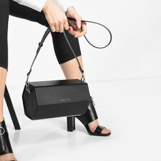 Mid-sized boxy clutch with magnetic snap closure. Carry as a clutch or use the additional strap for versatility. Charles Keith, Style Inspiration, Bags, Shoes, Fashion, Beauty, Products, Handbags, Moda
