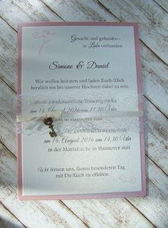 Einladung Hochzeit Spitze U0026 Schlüssel