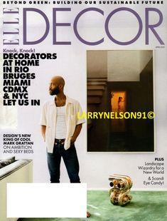 Elle Decor Magazine, Green Bedding, Magazines, Miami, Nyc, Ebay, Design, Journals