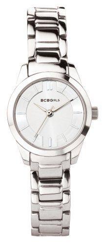 BCBGirls Women's GL4003 Silver Streak Collection Watch BCBGirls. $42.50. Water-resistant to 99 feet (30 M). Quartz movement. Case diameter: 25.2 mm. Stainless-steel case; Silver dial. Mineral crystal