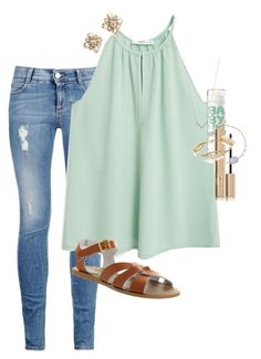 """""""Jelly bean filled cauliflower my butt! Any one else watching fuller house?!?? """" by erinlmarkel ❤ liked on Polyvore featuring STELLA McCARTNEY, MANGO, Chanel, Salt Water Sandals, Stila, Bourbon and Boweties, Adina Reyter and Meira T"""
