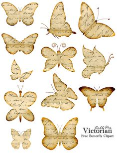 Best Free Printables for Crafts - Free Butterfly Printable - Quotes Templates Paper Projects and Cards DIY Gifts Cards Stickers and Wall Art You Can Print At Home - Use These Fun Do It Yourself Template and Craft Ideas Butterfly Clip Art, Butterfly Images, Diy Butterfly, Vintage Butterfly, Printable Butterfly, Butterfly Quotes, Butterfly Mobile, Butterfly Template, Flower Template