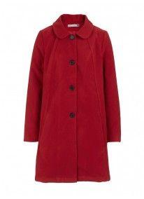 Oversized coat red