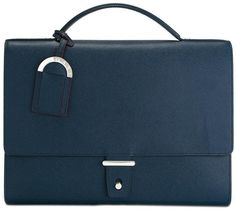 Small Briefcases Embassy™ Solid Genuine Cowhide Leather Travel Electronics Case