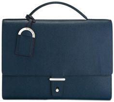 Bulgari flap closure briefcase