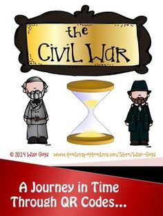 The Civil War US History QR Code Activity. Students use a QR code reader to research presidents, battles, generals, strengths/weaknesses of each side, effects of war and so much more in this interactive 27 page unit! $