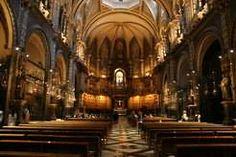 Inside Montserrat Monastery.