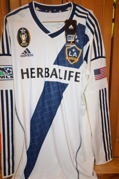 Los Angeles Galaxy football shirt 2012 - 2013 sponsored by Herbalife Football Shirts, Football Team, Mls Cup, Herbalife, Adidas, Sports, Collection, Tops, Fashion