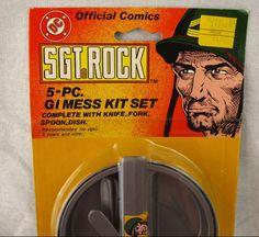 Sgt. Rock 5pc Mess Kit Toy NEW Vintage 1982 Sealed MOC Rare AHI DC Comics Dish #AHI