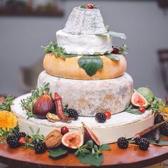 Just a little idea for any of you NYE love birds.  #cheesecake #foodstagram #foodie #weddingidea #weddingcheesecake #cheesewheelcake #cheeseweddingcake