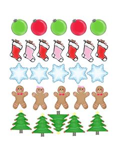 Life Planner Stickers Christmas Holiday Stickers Set of 27 for by BlackCoffeeNSweetTea