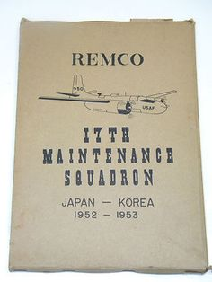 1953 Military Book HISTORY OF MIHO REMCO 17th Squadron AIR FORCE APO KOREAN WAR