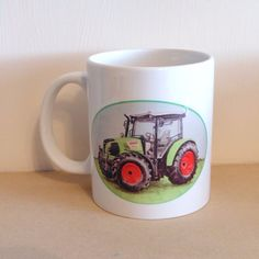Tractor Mug Claas Arion, Hand Pressed