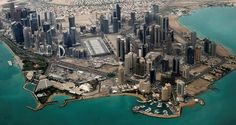 An aerial view of Doha's diplomatic area, Qatar, March 21, 2013. (Reuters Photo)