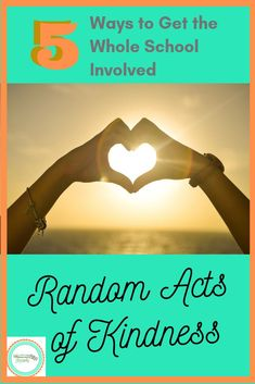 5 Ideas for a Random Acts of Kindness School-Wide Initiative – Counselor Accents High School Counseling, Pta School, School Clubs, School Counselor, High School Students, School Teacher, Kindness Activities, Teaching Kindness, Kindness Projects