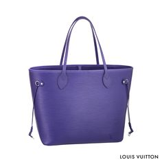 The luxurious Epi leather makes the Louis Vuitton Neverfull suitable for every occasion. Love the purple