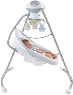 Fisher-Price Sweet Snugapuppy Dreams Cradle 'n Swing, White   2 ways to swing! side-to-side or head-to-toe   2 comfy recline positions   6 swing speeds, 16 soothing songs and nature sounds   Easy to convert to different positions-just press button and turn!   Machine-washable, plush seat pad with deluxe Sweet Snugapuppy Dreams body insert and head support