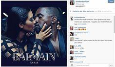 Balmain's New Brand Ambassadors: Kim Kardashian and Kanye West