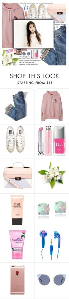 """Untitled #2373"" by anarita11 ❤ liked on Polyvore featuring Brock Collection, Golden Goose, Christian Dior, Dorothy Perkins, Charlotte Tilbury, L'Oréal Paris, Stila, Glitzy Rocks, Banda and Alba Botanica"