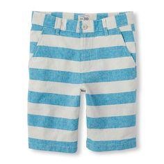Boys Boys Striped Shorts - Tan - The Children's Place